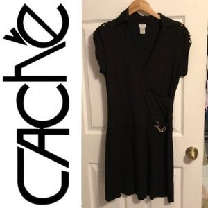 Cache Dresses - Collared casual cache sporty dress w/accents MED